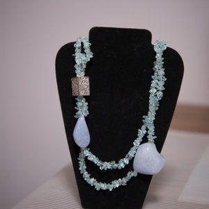 Jewelry - Aquamarine & Agate Necklace